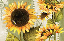 CounterArt Paper Placemat, Sunflowers in Bloom, 24-Pack