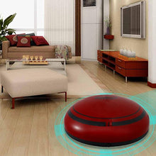 Highpot Smart Robotic Vacuum Cleaner Mini Sweeping Machine Low Noise Mop Robotic Vacuums for Pet Hair Low-pile Carpet Floor (Red)