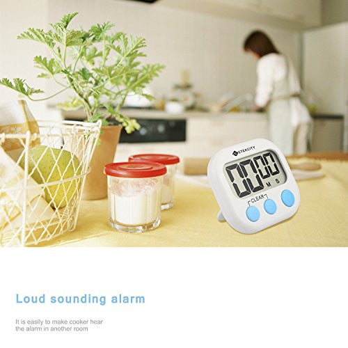 Etekcity Digital Kitchen Timer, Big Digits Loud Alarm Magnetic Backing Stand With Large Lcd Display