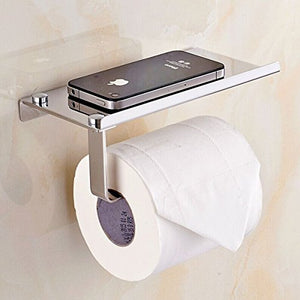 Bosszi Wall Mount Toilet Paper Holder, SUS304 Stainless Steel Bathroom  Tissue Holder With Mobile Pho ...