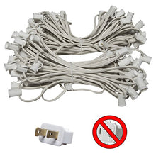 100' C7 Commercial Light Stringer, SPT2 White Wire, 12