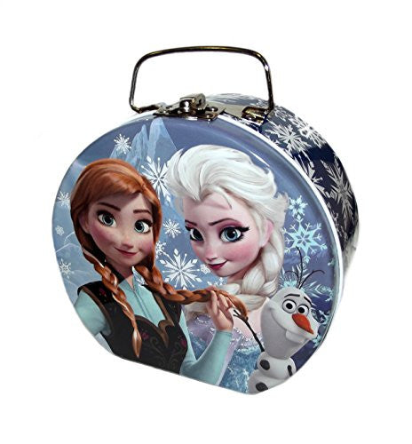 Disney Frozen Elsa, Anna & Olaf Semi Round Shaped Blue Tin Box