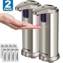 Automatic Soap Dispenser, Costech Auto Sensor Touchless Soap Dispenser With Brushed Stainless-Steel,
