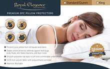 Royal Elegance Waterproof Bed Bug Pillow Protector   Hypoallergenic  Lifetime Warranty  2pc Pillowca