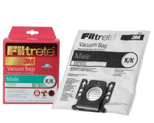 3 X Filtrete Miele K/K Synthetic Bags and Filters, 5 Bags and 2 Filters