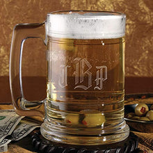 6pk Glass Tankard - Personalized-Wedding Party Gifts