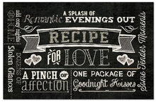 Counterart Paper Placemat, Recipe for Love, 24-Pack