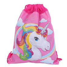 12 Pack Unicorn Drawstring Party Bag Unicorn Gift Bags Drawstring Backpack Bag for Kids Girls Unicorn Party Favors Supplies Baby Shower,10.6 x 13.4 inches