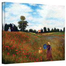 Art Wall Red Poppies At Argenteuil Gallery Wrapped Canvas By Claude Monet, 18 By 24 Inch