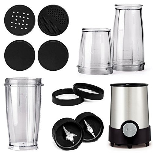 Bella Bla13586 13586 Personal Size Blender, 12 Piece, Stainless Steel And Black
