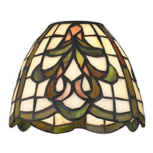 Dome Tiffany Glass Shade   1 5/8 Inch Fitter