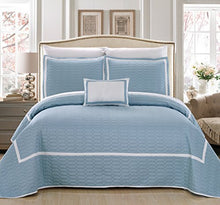 Chic Home Mesa 6 Piece Quilt Set, Twin, Blue