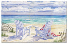 Counterart Paper Placemat, Beach View, 24-Pack