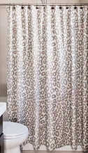 Rizzy Home Andrew Charles Collection Animal Print Patterned Cotton Shower Curtain, 72