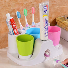 Yiuhart Toothbrush Holders Hands Free Toothpaste Dispenser Automatic Toothpaste Squeezer And Toothbr