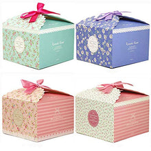 Chilly Gift Boxes, Set of 12 Decorative Treats Boxes, Cake, Cookies, Goodies, Candy and Handmade Bath Bombs Shower Soaps Gift Boxes for Christmas, Birthdays, Holidays, Weddings (Flower Patterned)