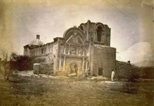 1870 Mission of Tumacacori - man in foreground Vintage Black & White Photogra g5