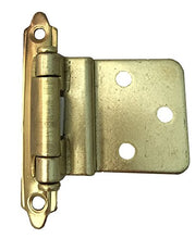 Cabinet Hinge Bright Brass Set of 6 Pair 8805-BB MADOL [8805BB-6]