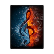 Cool Music Note Between Fire and Water - Personnalized Custom Fleece Blanket 58 inches x 80 inches (Large)
