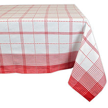 Country Plaid Square Tablecloth, 100% Cotton with 1/2