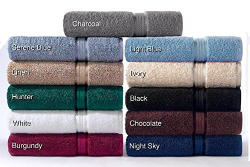 Cotton Craft   12 Pack   Ultra Soft Extra Large Wash Cloths 12x12 Black   100% Pure Ringspun Cotton