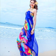 Topseller Sexy Womens Chiffon Bikini Summer Beach Swimwear Sarong Wrap Cover Dress Scarf Pareo (Blue