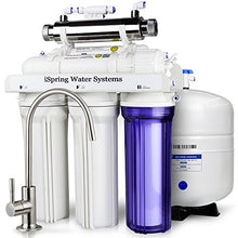 iSpring RCC7U High Capacity Under Sink 6-Stage Reverse Osmosis Drinking Water Filtration System with UV Sterilizer - Make Any Water Safe to Drink - WQA Gold Seal Certified