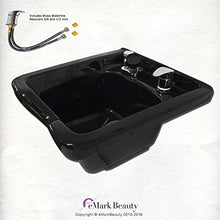 Shampoo Bowl Black ABS Plastic Salon and Spa Hair Sink Beauty Salon Equipment TLC-B11