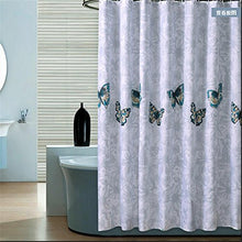 Hom Jo Butterfly Shower Curtain Style Luxury Padded Waterproof Polyester Anti Mould Creative Shower C