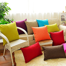 Huacel Solid Multiple Color Simple Linen Throw Pillow Cases Sofa Cushions Pillowcases Back Office Ca