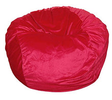 Ahh! Products Cuddle Minky Red Washable Large Bean Bag Chair