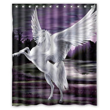 Unique Debora Customize Home Decorator Polyester Waterproof Bath Curtain Shower Curtain 60x72 Inch for Flying Pegasus Purple