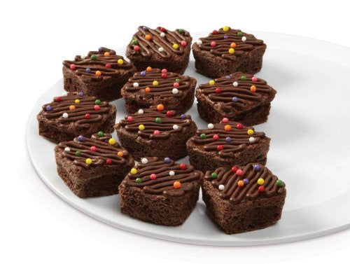 Wilton Bite Size Brownie Squares Silicone Mold, 24 Cavity