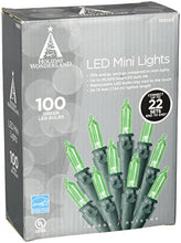 Noma/Inmliten Import 40845 88 A 0 100 Count, Green, Led Traditional Mini Bulb Light Set, 3