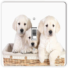 Rikki Knight Labrador Puppies in Basket-Single Toggle Light Switch Plate