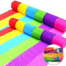 Coceca 36 Rolls Crepe Paper Streamers, 6 Colors, For Birthday Partyã¯â¼âœ Class Partyã¯â¼âœfamily Ga