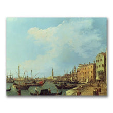 The Riva Degli Schiavoni by Canaletto, 18x24-Inch Canvas Wall Art
