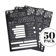 50 Advice and Prediction Cards for Baby Shower Game, New Mom & Dad Card, Mommy & Daddy to Be, For Girl or Boy Babies, New Parent Message Advice Book, Fun Gender Neutral Shower Party Favors, Scrapbook