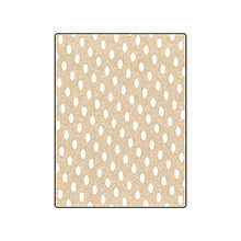 Brown White Polka Dot Warmer Winter Fleece Throw Plush Blanket 50 x 60 inches (Medium)