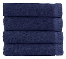 CLASSIC EGYPTIAN COTTON BATH TOWEL BY IZOD - Premium, Soft, Absorbent - Sport, Home - Machine Washable - Dress Blue