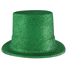 Pack of 24 Green Glittered St. Patrick's Day Top Hat Costume Accessories
