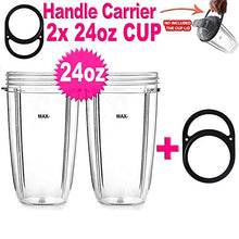 2 Pack 24oz.Large Tall Cup For Nutribullet 600 W & 900 W