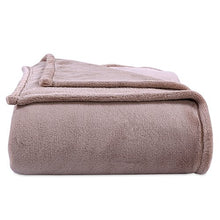 Berkshire Blanket Better Living Premium Plush Bed Blanket, Full/Queen, Hummus