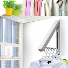 Kerocy Stainless Steel Wall Mounted Indoor Adjustable Clothes Hanger Magic Foldable Drying Racks