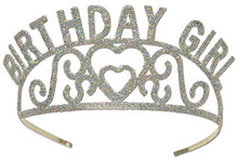 Beistle 60632 Glittered Metal Birthday Girl Tiara