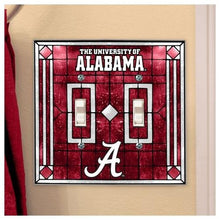 Memory Company Alabama Crimson Tide Glass Double Switch Plate Cover