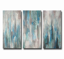 ARTLAND Hand-Painted 'Sea of Clarity' 3-Piece Gallery-Wrapped Canvas Art Set