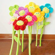33cm Cartoon Sunflower Flowers Curtain Flower Plush Toys Children Gift Wedding Gifts