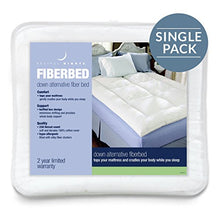 GoLinens Restful Nights Down Alternative Fiber Bed [Hypo-Allergenic, Baffle Box, Cotton Fabric with Durafill fibers] - King