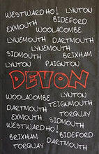 Tea Towel/T-Towel/Drying Cloth ~ 100% Cotton ~ Souvenir 'DEVON' ENGLAND ~ Graffiti